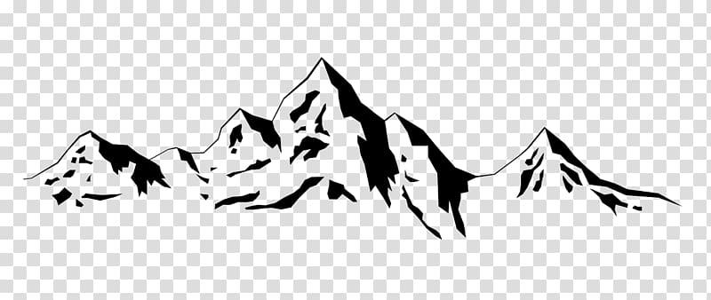 Mountain range silhouette . Clipart mountains transparent background
