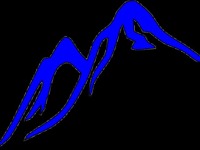 Clipart mountains vector. Mountain ridge free on