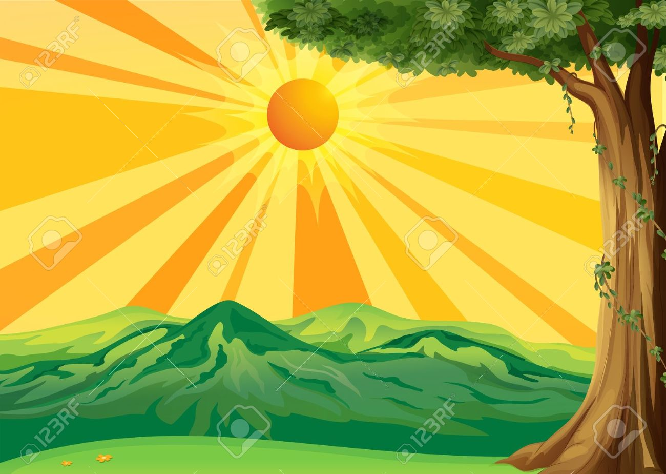 Free cliparts download clip. Landscape clipart sun mountain