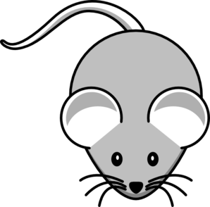 Light gray clip art. Clipart mouse