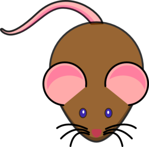Brown clip art at. Clipart mouse