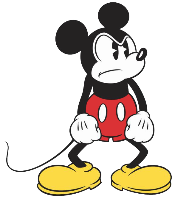 Classic mickey . Mouse clipart angry