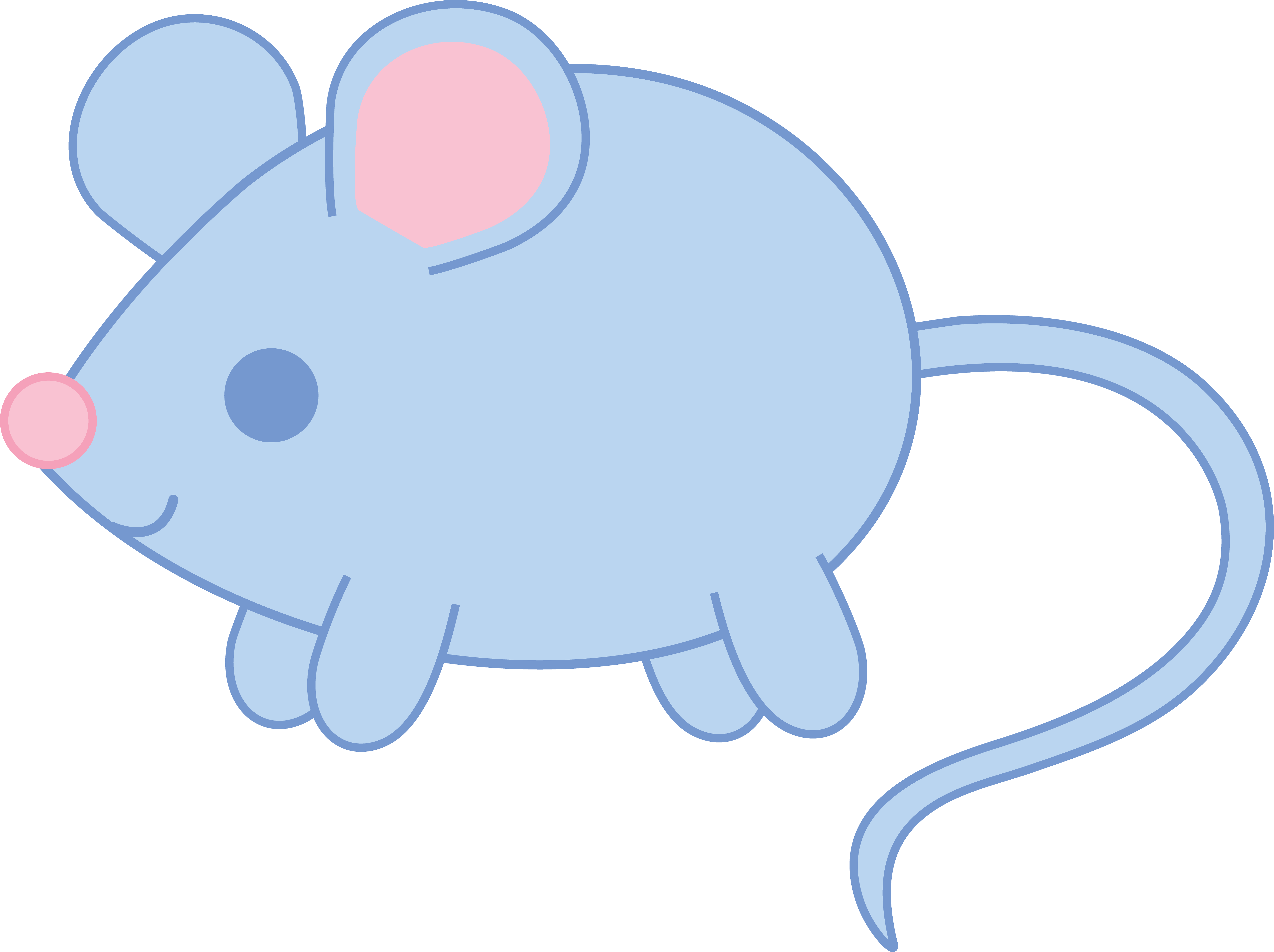 Clipart mouse baby mouse. Blue free clip art