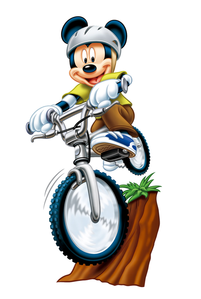 Mice clipart bike. Aqui imagens de mickey