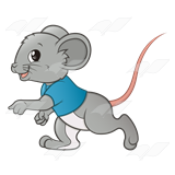 With a blue shirt. Clipart mouse boy