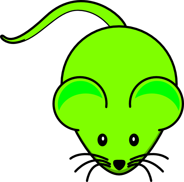 Green clip art at. Clipart mouse cartoon