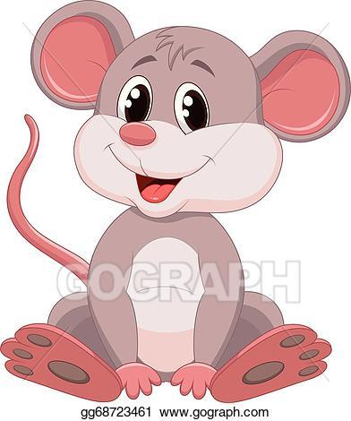 Clipart mouse cartoon. Vector illustration cute eps