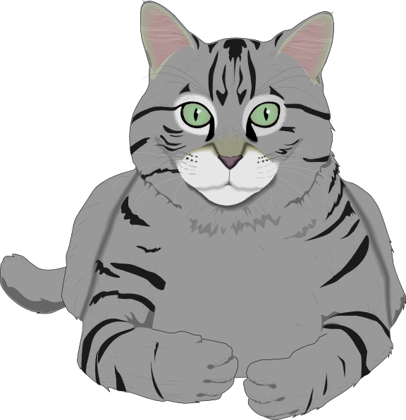 Totetude gray clip art. Free clipart cat