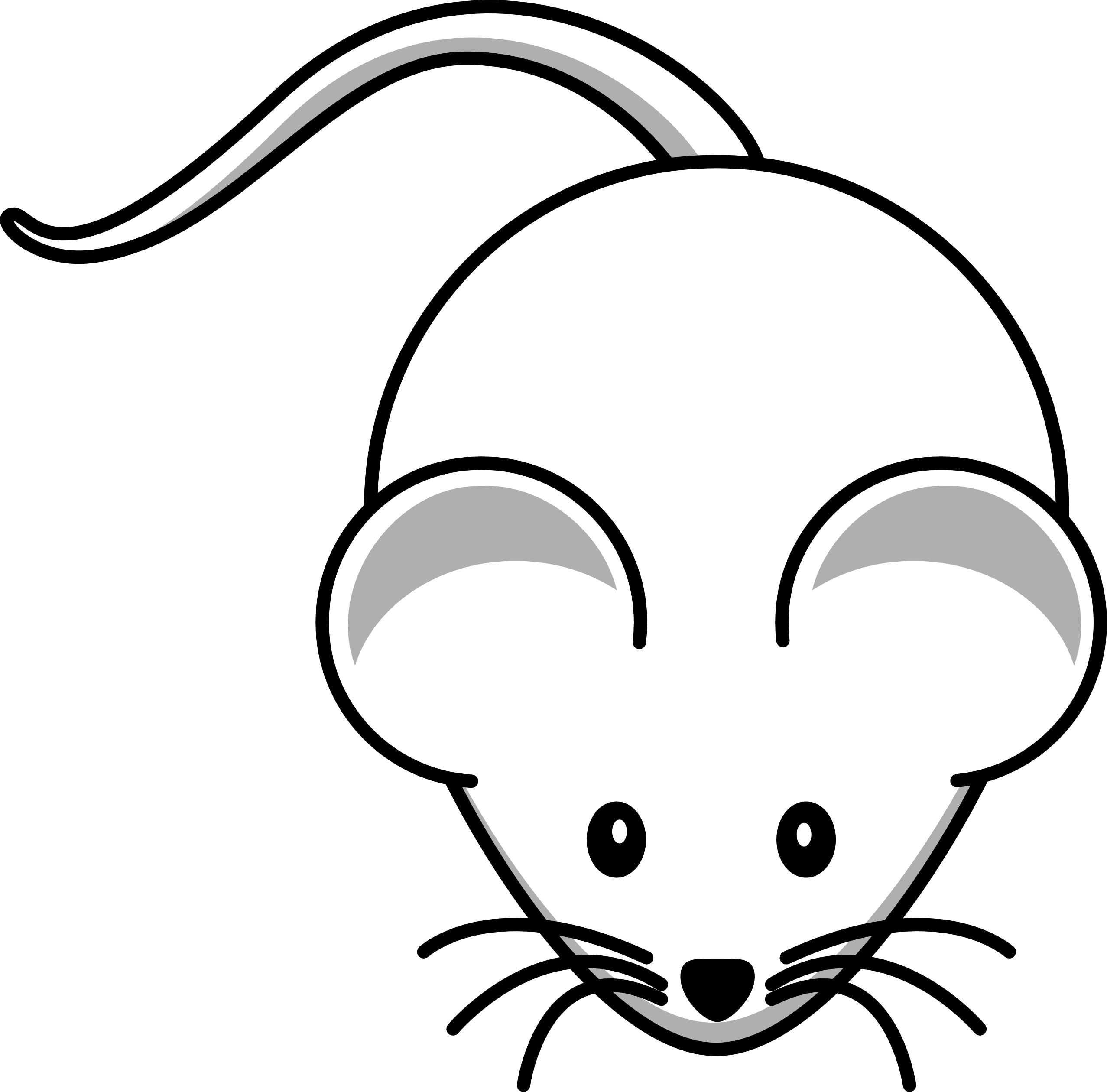 collection of cute. Clipart mouse colouring page