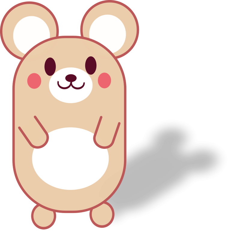 collection of cute. Kawaii clipart mouse