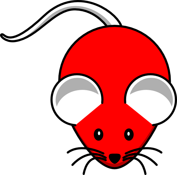Clipart mouse illustration. Red clip art at