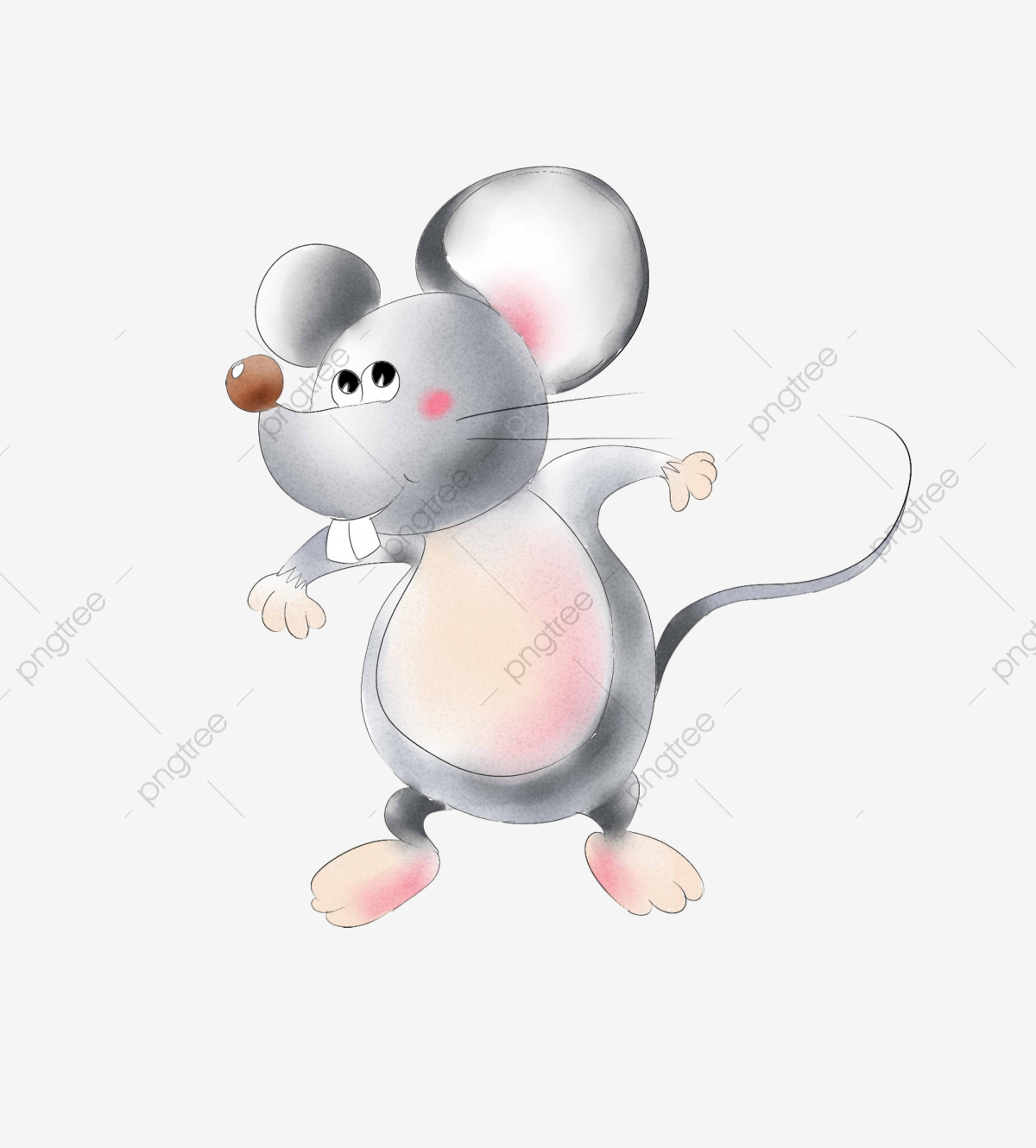 Clipart mouse illustration. Tantrum angry gray running