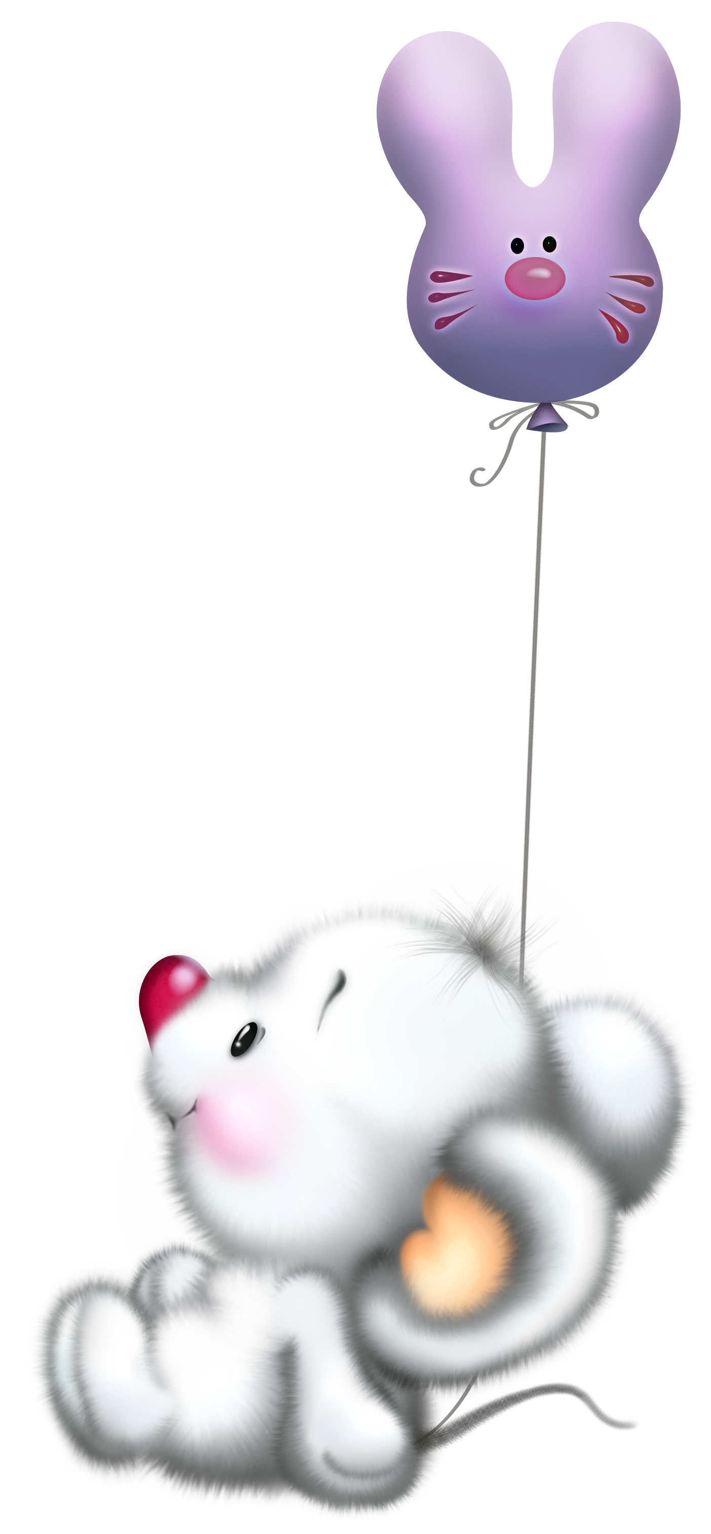 Cute white mouse with. Writer clipart unfinished work