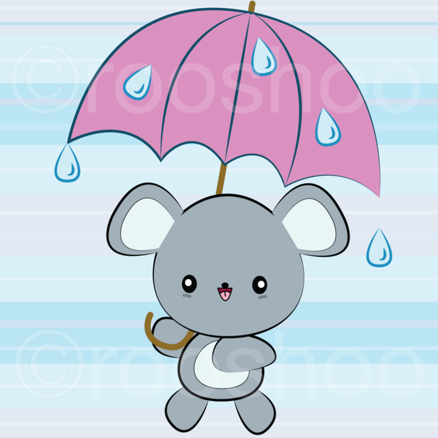 Rainy days mouse by. Clipart umbrella kawaii