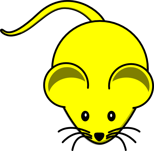 Clipart mouse lab mouse. Yellow graphic clip art