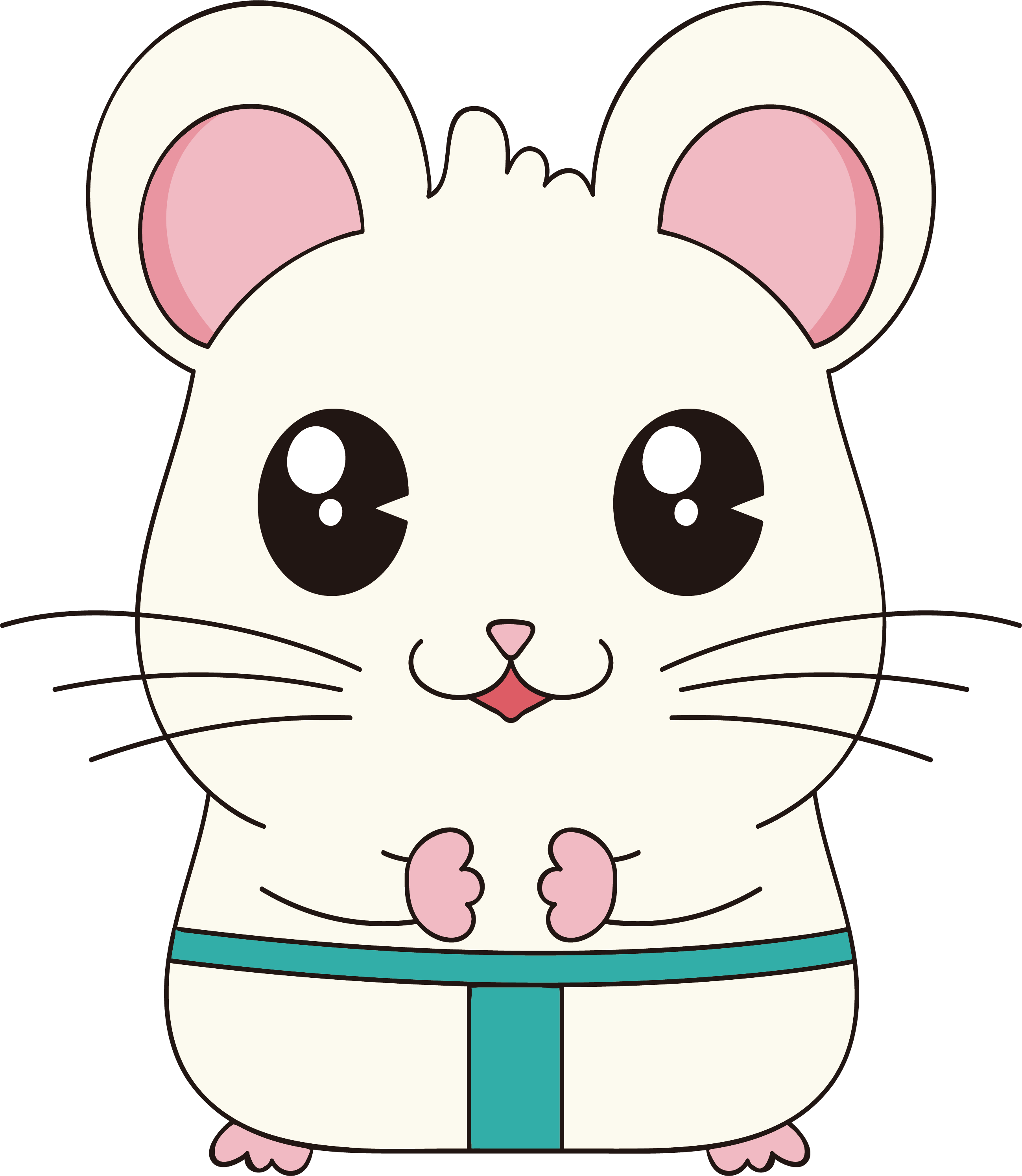 Mouse whiskers chinese zodiac. Clipart rat line art