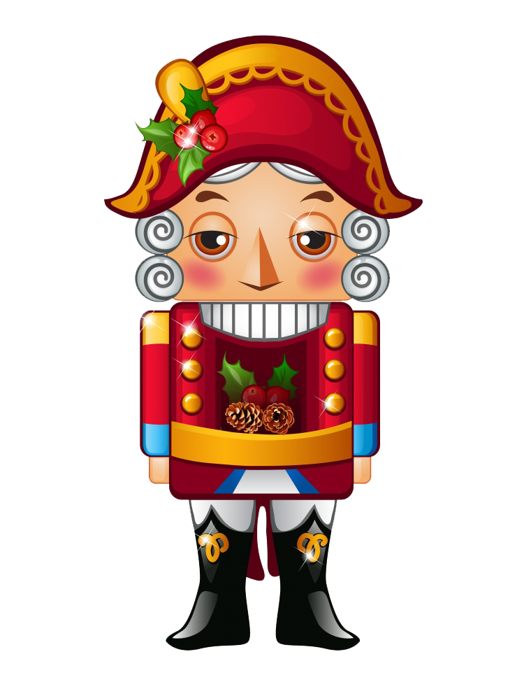 The nutcracker and king. Clipart mouse merry christmas