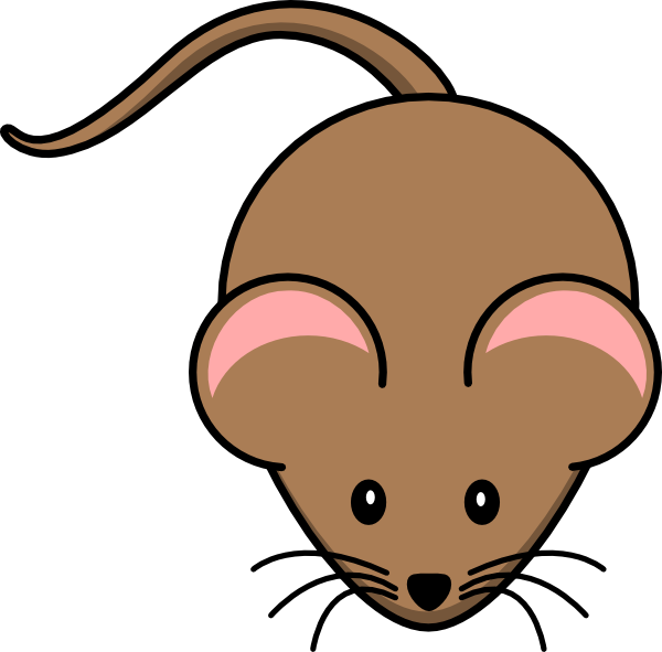 Mouse clip art at. Hamster clipart brown