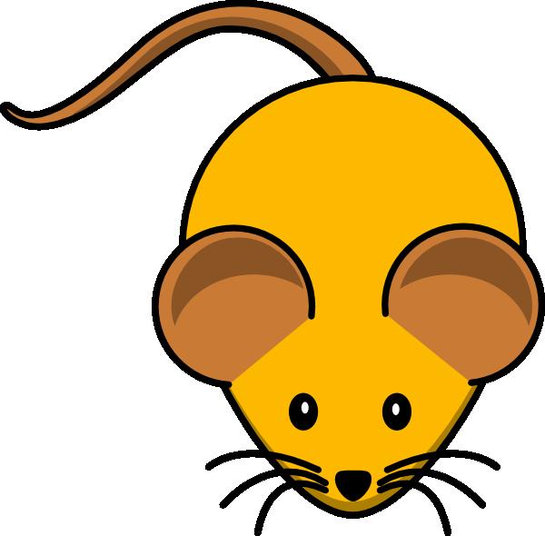 Clipart mouse orange. W brown ears clip