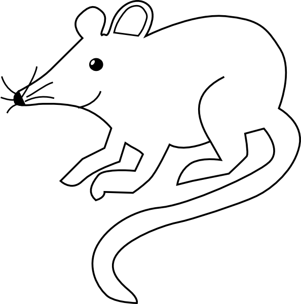 Clipart mouse outline. Simple clip art at