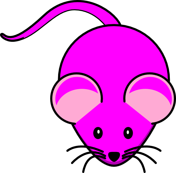 Pink clip art at. Purple clipart mouse