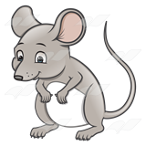 . Clipart mouse standing
