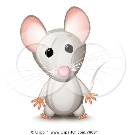 Clipart mouse standing. Royalty free rf illustration