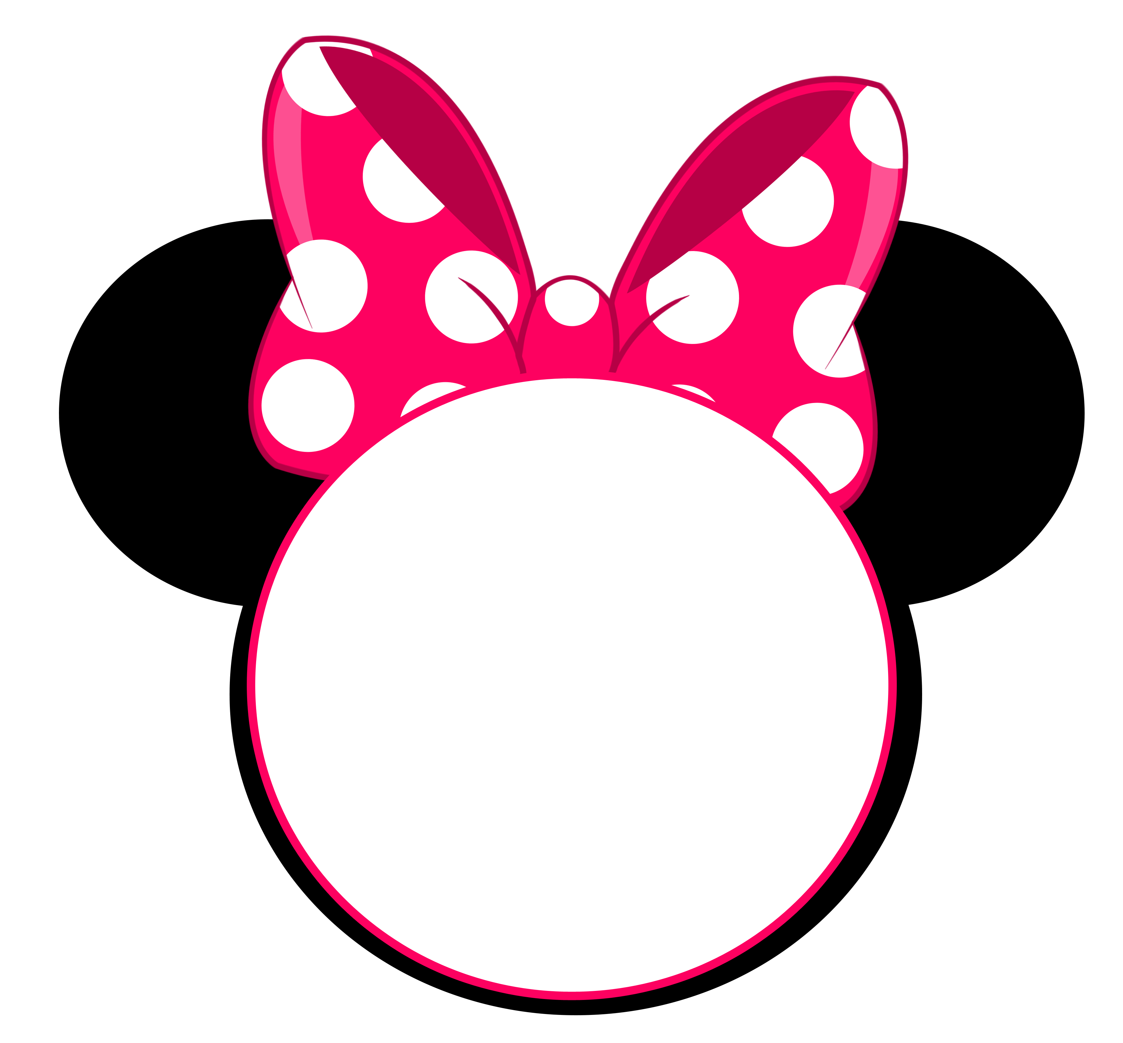 Mice clipart traceable. Free minnie mouse head