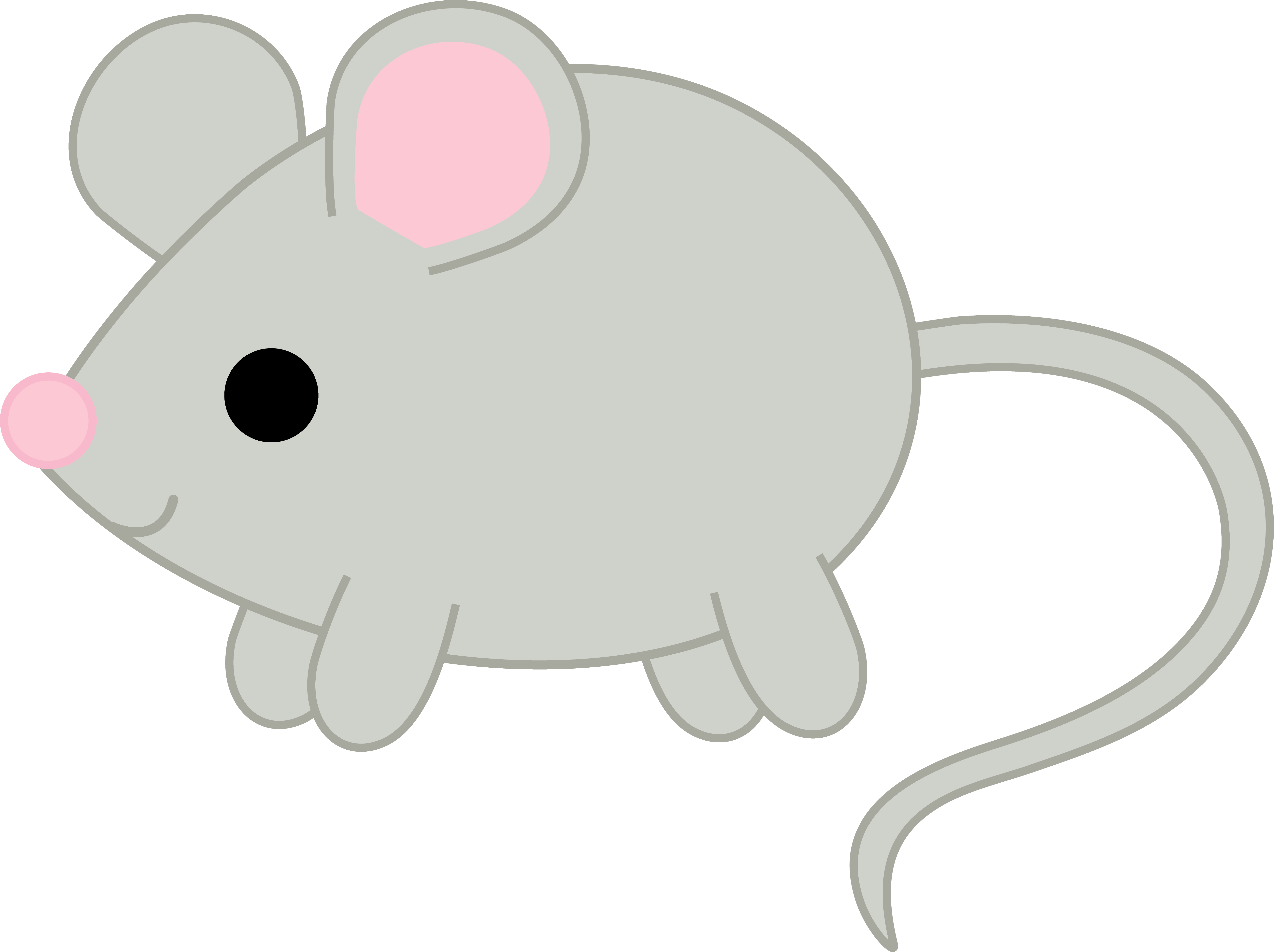 Mice clipart gray mouse. Cute free clip art
