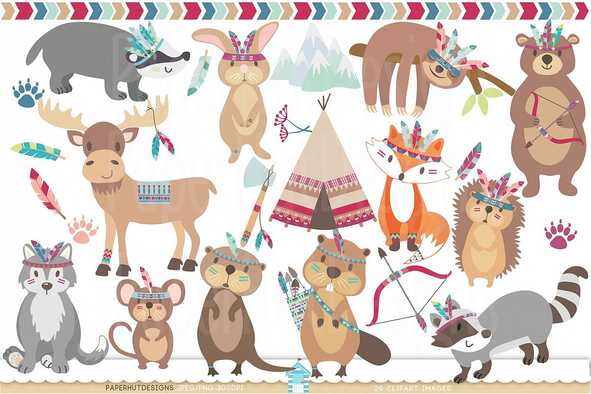 Forest animals . Mouse clipart woodland