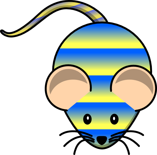 Mouse clip art at. Number 1 clipart striped