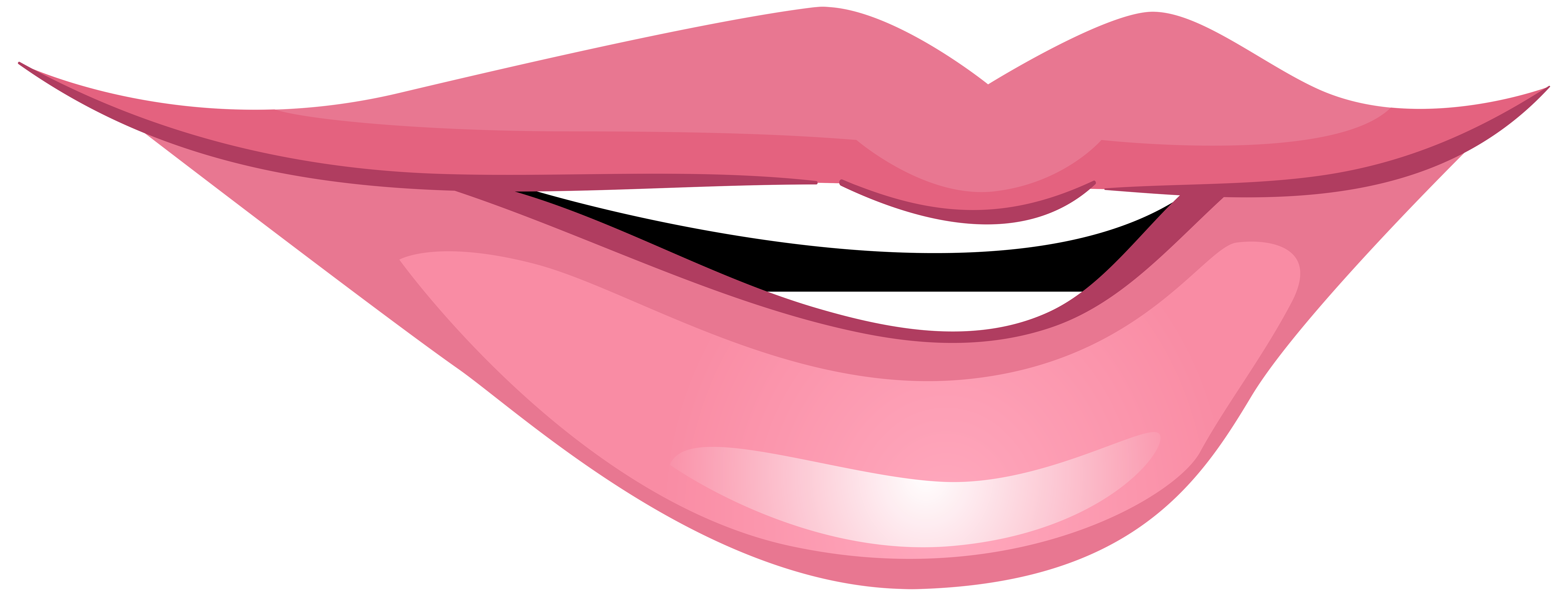 Lip clipart lip open. Pink smiling mouth png