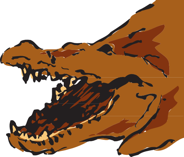 Brown with open clip. Clipart mouth alligator