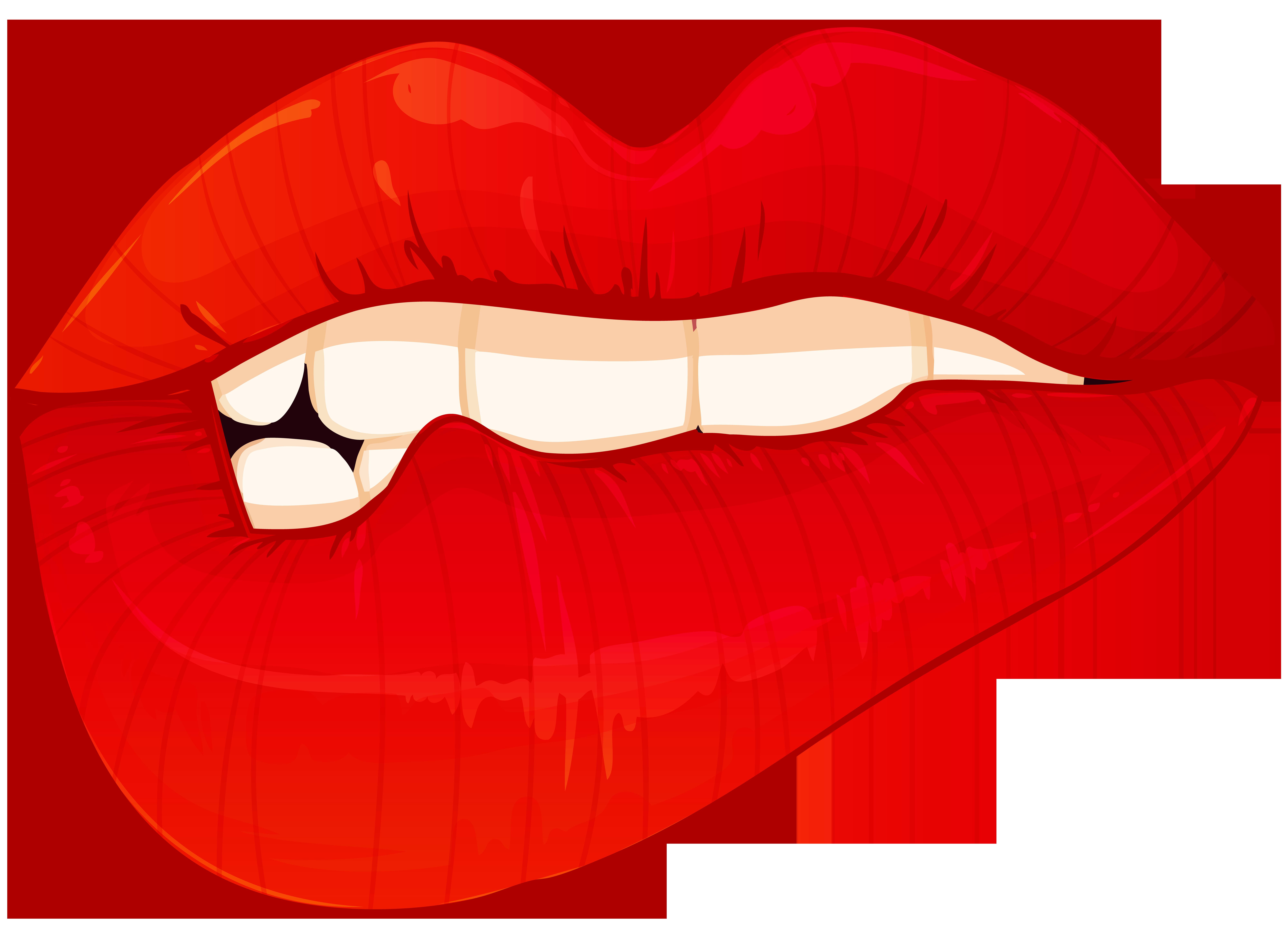 Lips clipart christmas. Biting png clip art