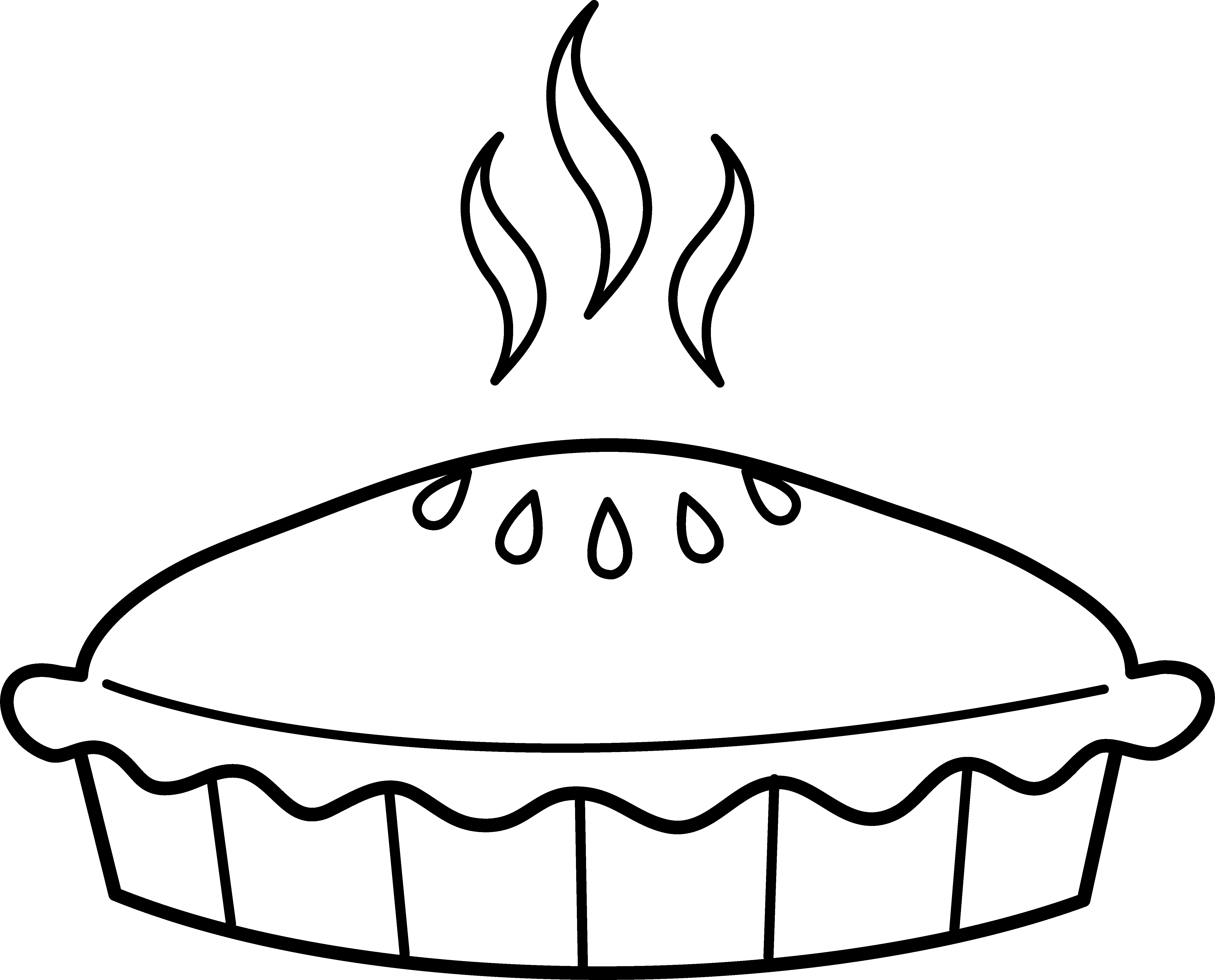 Pie clipart pie crust. Coloring page free clip