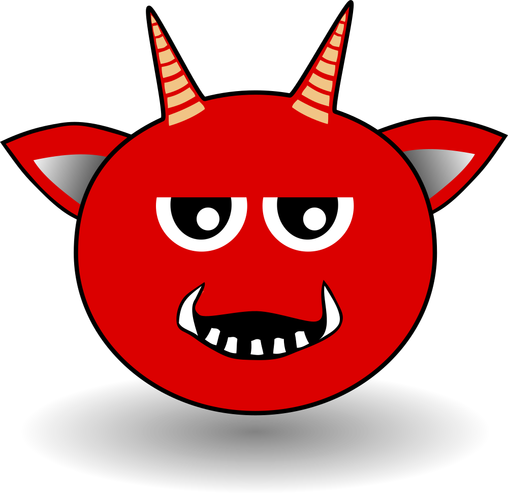 Demon clipart satanic. Onlinelabels clip art little