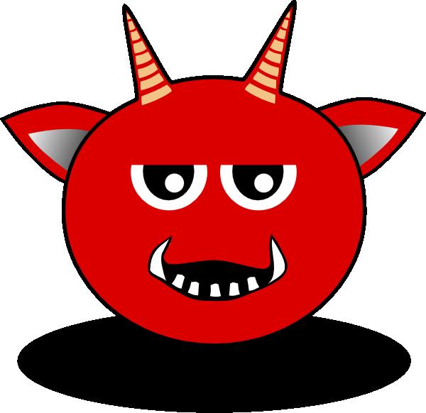 Red head cartoon clip. Horn clipart devil