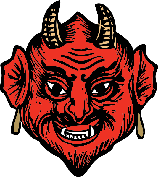 Head clip art at. Clipart smile devil