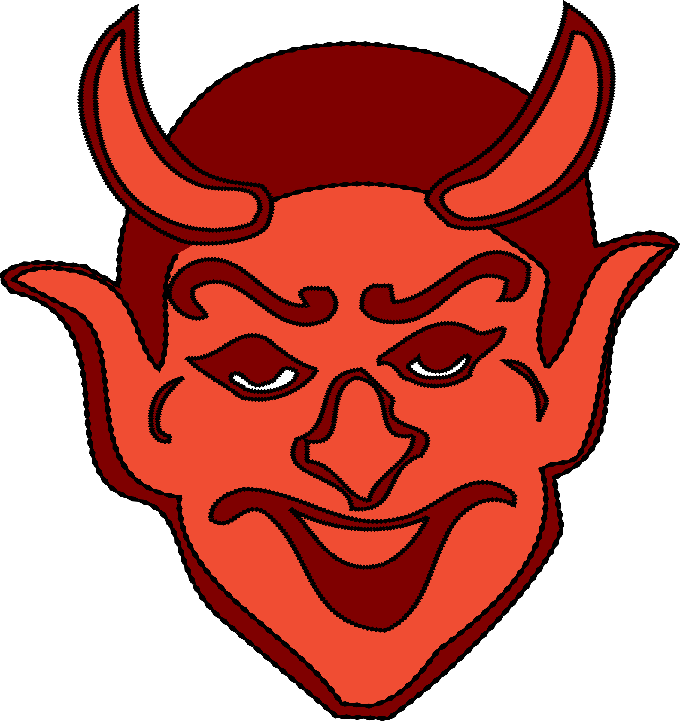 Clipart smile devil. Head big image png