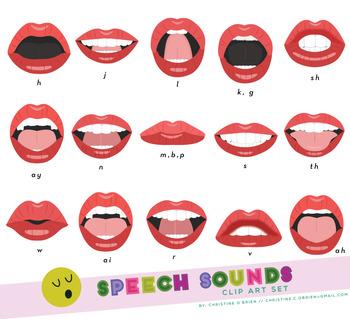 Speech sounds clip art. Clipart mouth different mouth