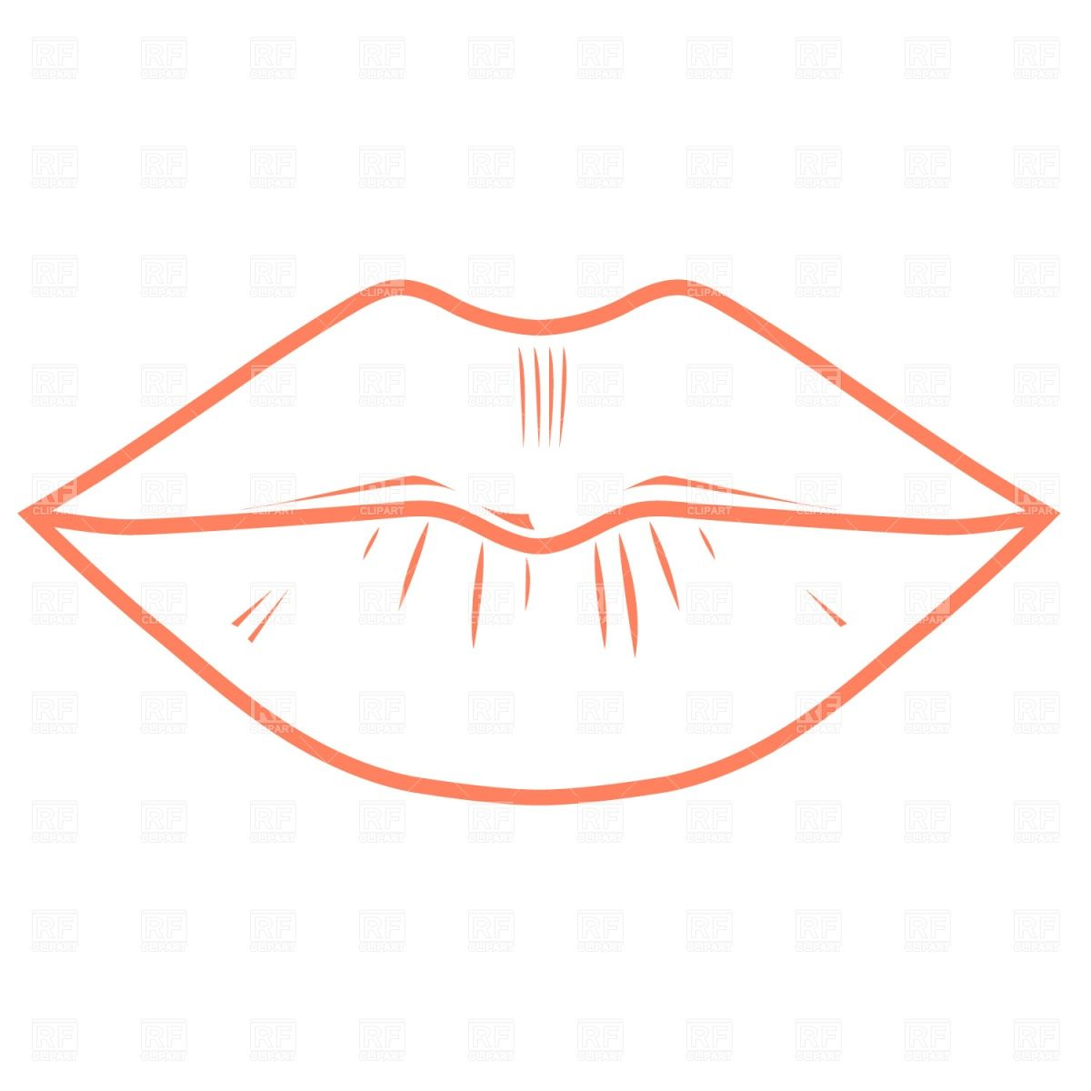 Sprinkles on the lips. Mouth clipart template