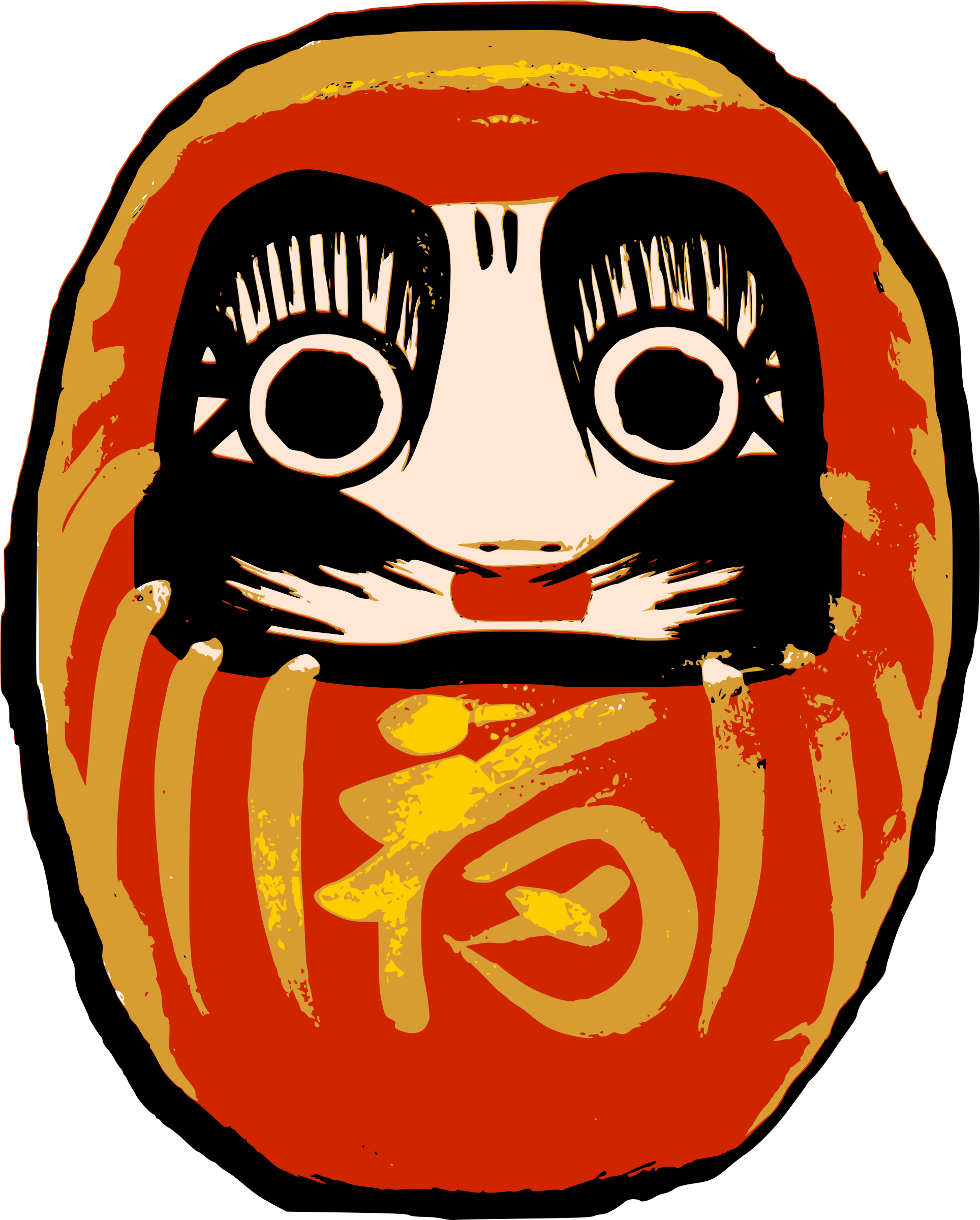 Daruma big image png. Clipart mouth doll