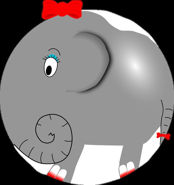 Cute cartoon shop of. Clipart mouth elephant