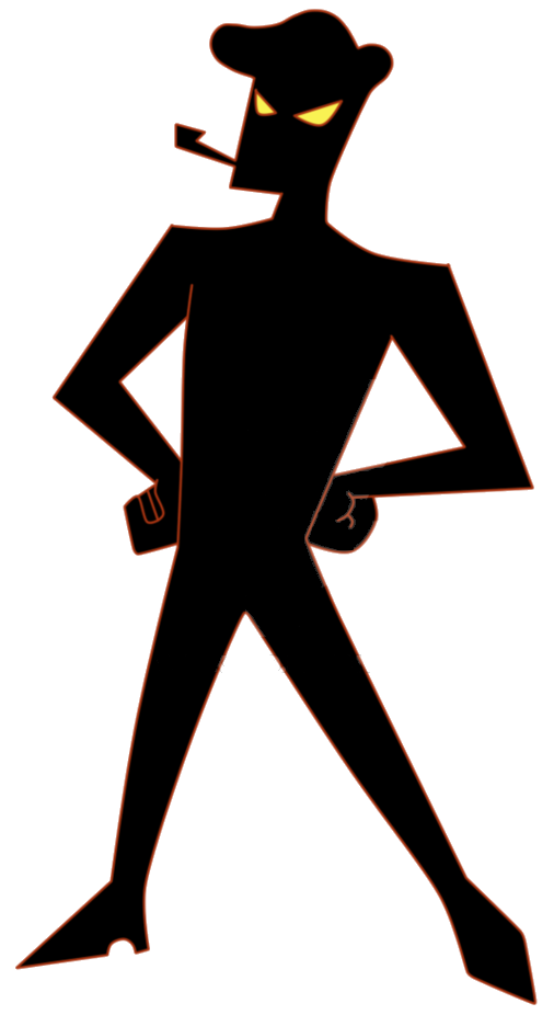 Father clipart uncle. Evil silhouette at getdrawings