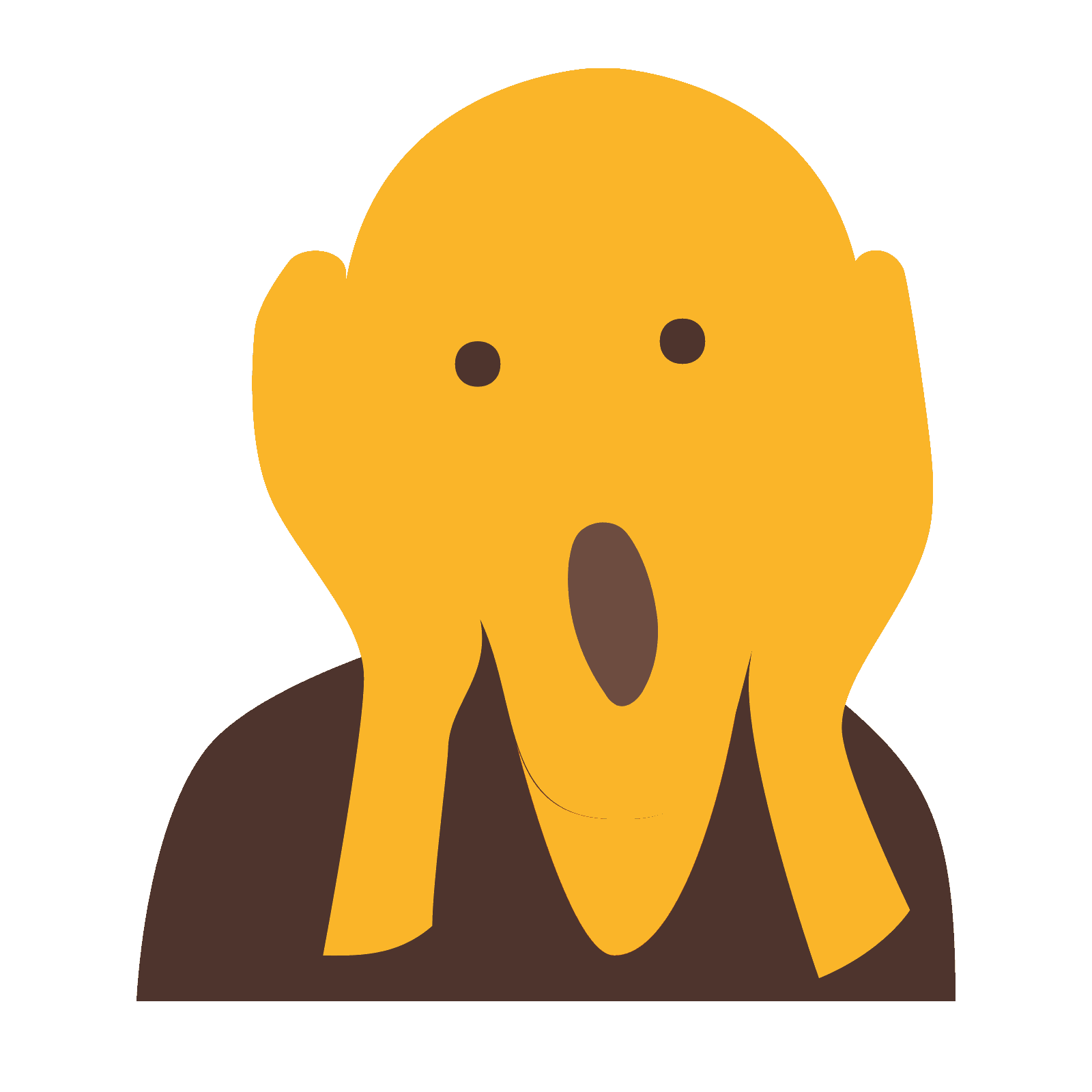 Ic ne edvard munch. Clipart mouth hand over