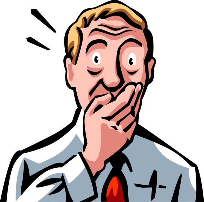 Clipart mouth hand over. Shocked man with vector