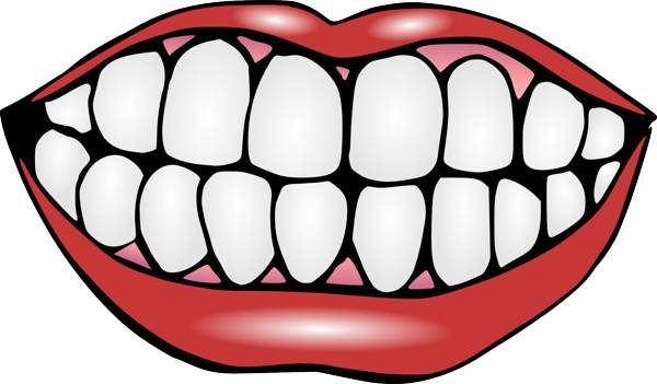 Clipart mouth healthy mouth. And tongue black white