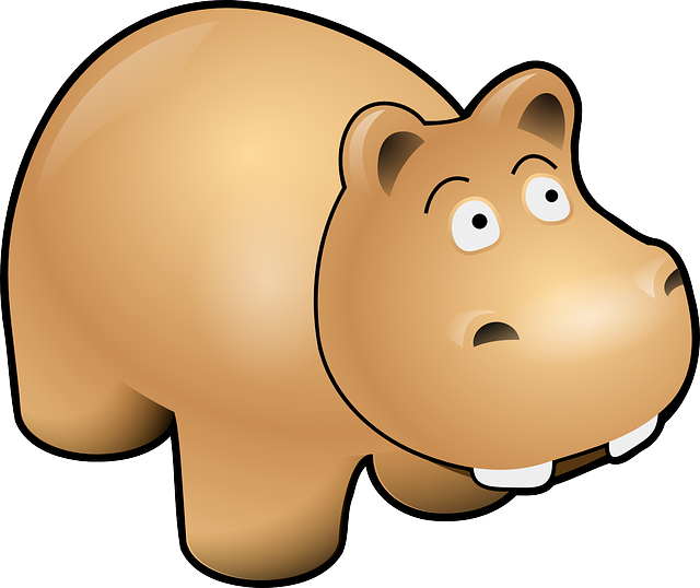 hippo clipart gray thing