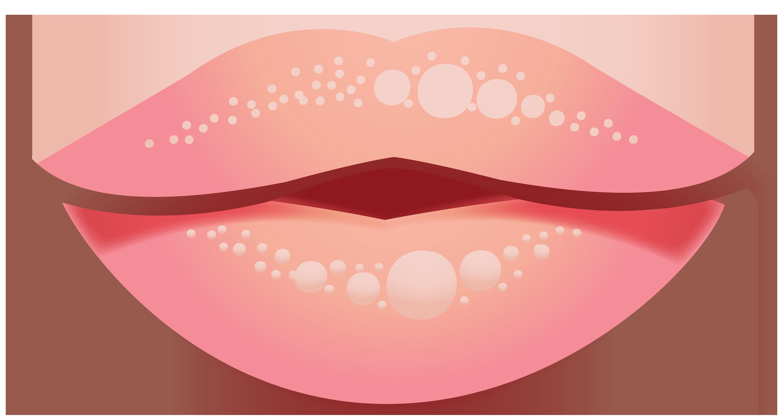 Lips cardboard