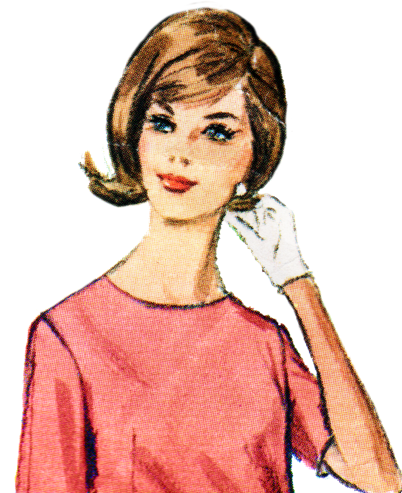 Free retro lady clip. Clipart mouth ladies